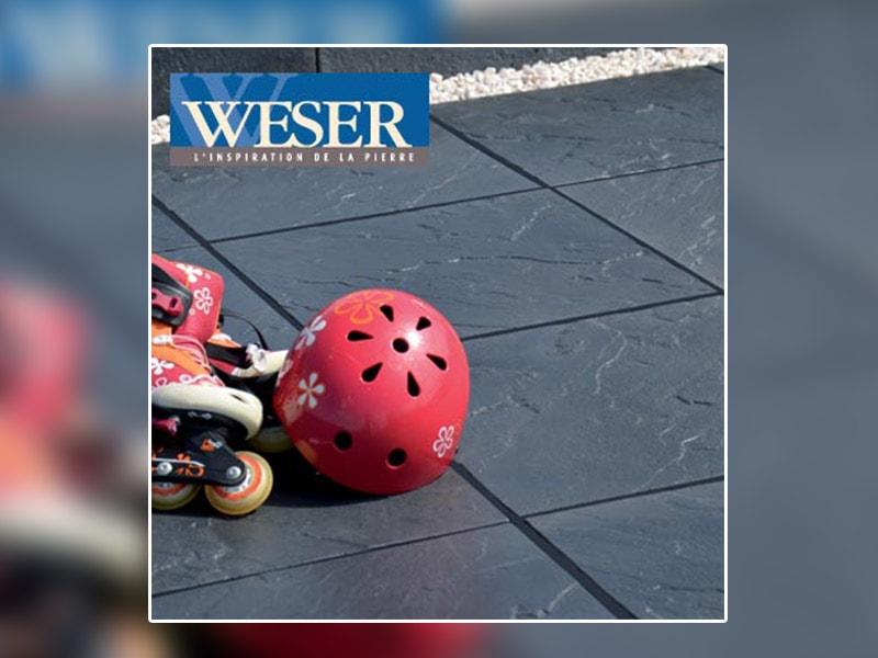 Les dalles et pavés des Terrasse Weser - Batiweb