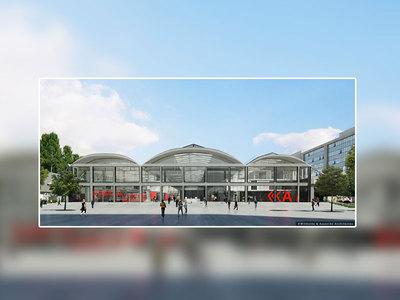 Ancienne halle de la SNCF transformée en lieu de travail pour accueillir des futurs start-ups Batiweb