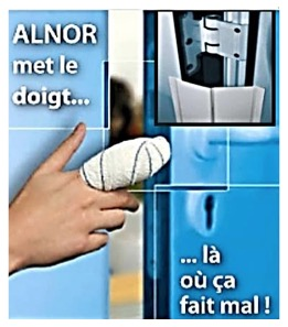 STOP AUX ACCIDENTS DANS LES CHARNIERES ANTI-PINCE-DOIGTS UNIVERSELS ALNOR S.A.S