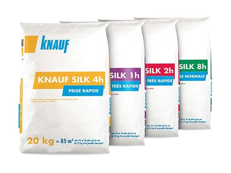 Knauf SILK, l'enduit à joints à prise pour plaques de plâtre qui allie finesse, productivité et moins de pénibilité sur les chantiers