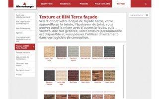 Une nouvelle application Wienerberger : Texture et BIM Terca Façade Batiweb