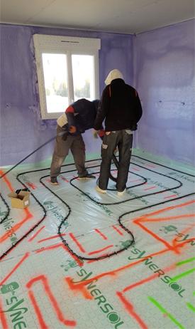 La solution de plancher chauffant Triotherm
