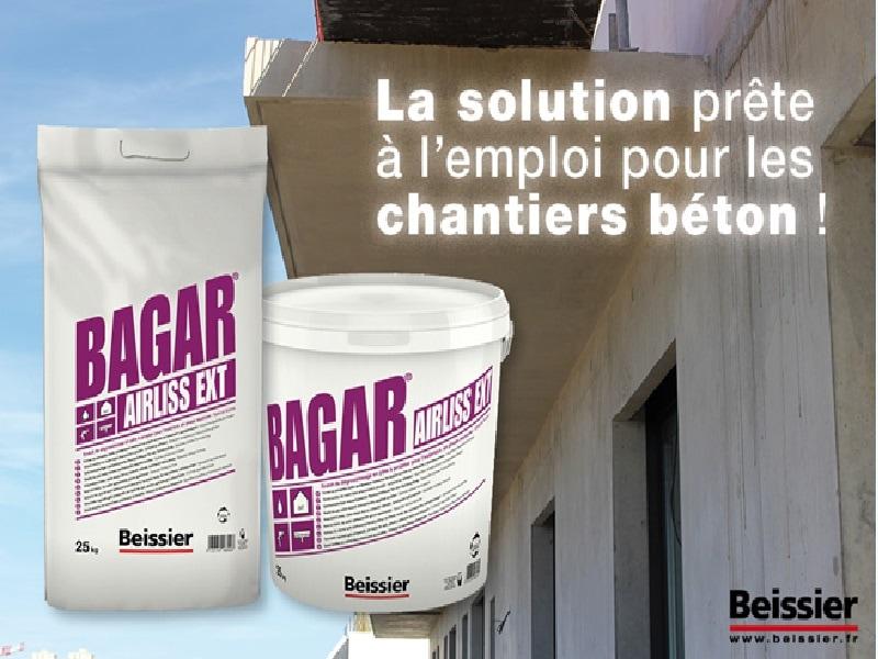 BAGAR AIRLISS EXT: le nouvel enduit semi-allégé de dégrossissage en pâte à projeter parfaitement adapté pour l'enduisage des supports béton - Batiweb
