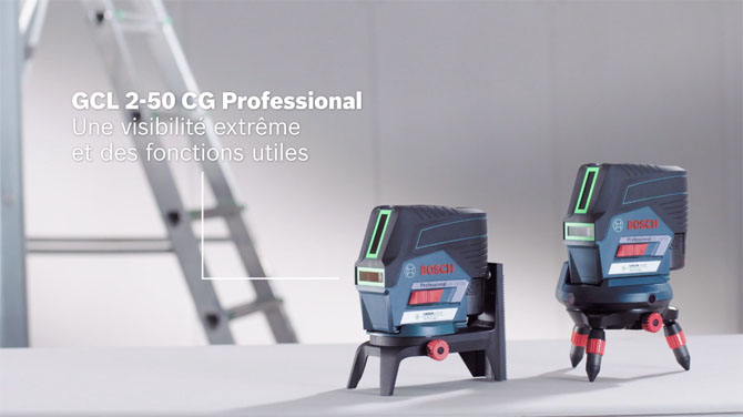 Bosch GCL 2-50 Professional: la nouvelle gamme de lasers points et lignes