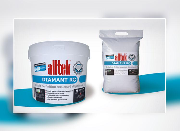Enduit dépolluant prêt à l'emploi anti-formaldéhydes : adoptez un air sain avec Alltek Diamant R+ - Batiweb