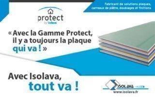 Protect, la gamme de plaques de plâtre Isolava