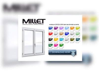 Les fenêtres multimatériaux M3D® de MILLET au format BIM – Fenêtre Batiweb