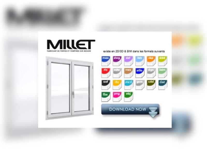 Les fenêtres multimatériaux M3D® de MILLET au format BIM – Fenêtre - Batiweb