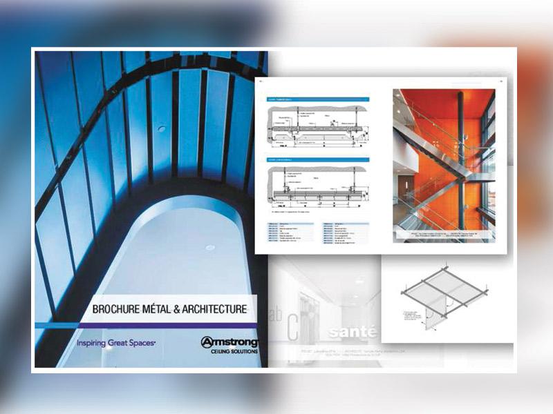 """ARMSTRONG CEILING SOLUTIONS dévoile sa nouvelle brochure """" MÉTAL & ARCHITECTURE """" - Batiweb"""