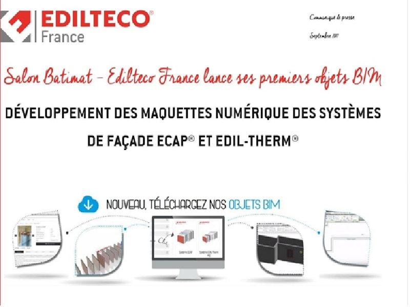 Salon Batimat - Edilteco France lance ses premiers objets BIM - Batiweb