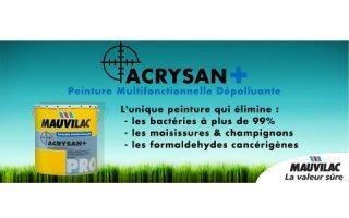 ACRYSAN PLUS : La peinture veloutée multifonctionnelle - Batiweb