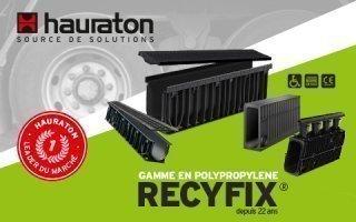 RECYFIX® : la gamme de caniveaux en polypropylène la plus étendue du marché