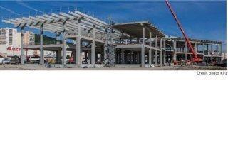 Une structure poteaux-poutres, aux dimensions XXL, mise en place par KP1 en 4 mois pour le cinéma multiplexe de Clermont-Ferrand