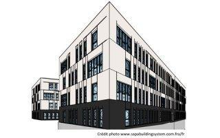 Sapa réalise son 1er chantier 100 % BIM : Modélisation 3D de profilés aluminium sur-mesure pour les bureaux OXAYA à Lyon