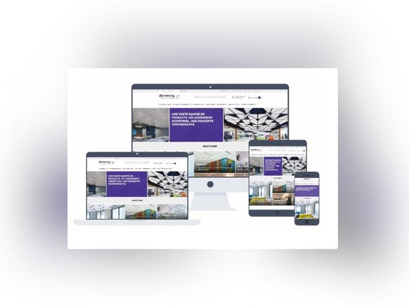www.armstrongplafonds.fr : un site internet relooké pour répondre en quelques clics à chaque professionnel - Batiweb