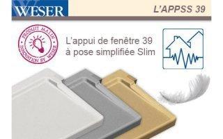 L'Appui de fenêtre à pose simplifiée SLIM Weser Batiweb