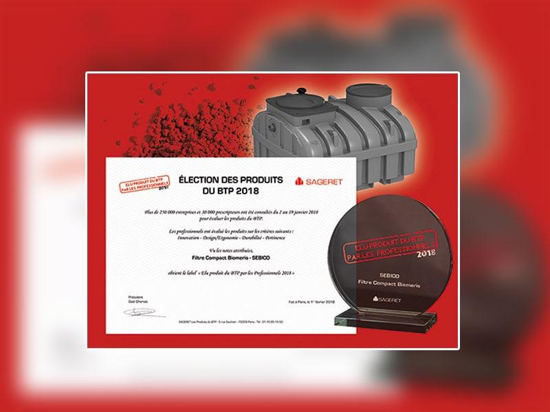 Le filtre compact Bioméris récompensé par le label des produits du bâtiment 2018 - Batiweb