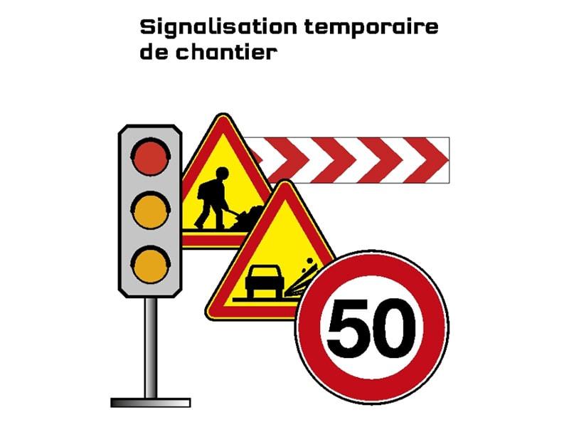 Information prévention : Signalisation temporaire de chantier - Batiweb