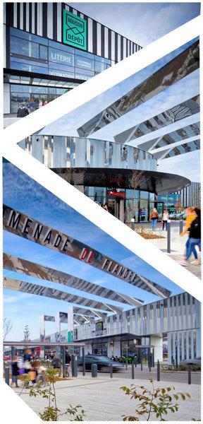 Centre Commercial Promenade De Flandre en périphérie de Lille (59) & TECHNAL