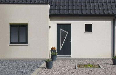 La couleur au prix du blanc. EURADIF lance NEOSTYL®, sa nouvelle gamme de portes d'entrée monobloc fibrée Batiweb