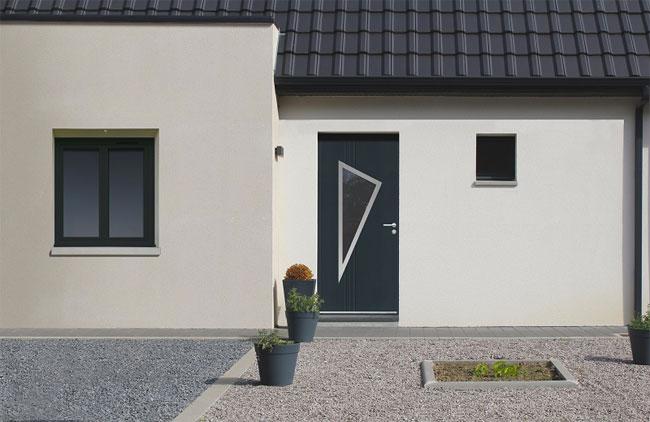 La couleur au prix du blanc. EURADIF lance NEOSTYL®, sa nouvelle gamme de portes d'entrée monobloc fibrée