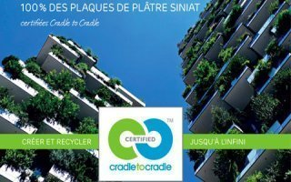 Certification Cradle to Cradle® - Siniat : 1er industriel du plâtre en France certifié