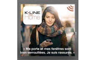 Fenêtres et portes d'entrée connectées, sérénité assurée pour 20€ seulement avec l'appli K•LINE Smart Home