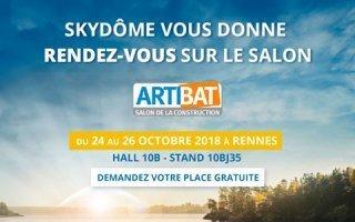 SKYDÔME sera présent au salon ARTIBAT du 24 au 26 octobre à Rennes, pôle Gros Œuvre, Hall 10B - Stand 10BJ35 !  - Batiweb