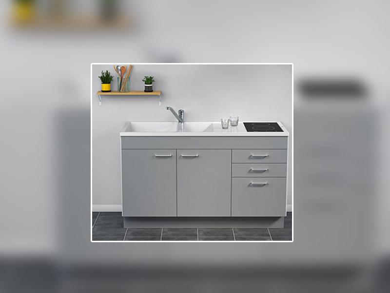 Nouveauté CAREA® : Concept évier + meuble GIGA 140, désormais disponible en version tiroirs et 2 couleurs. - Batiweb