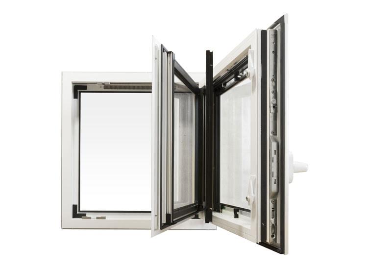 KALORY E, la fenêtre aluminium à énergie renouvelable 72 mm