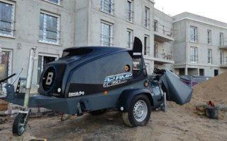 Lancy EC 350 – Le transporteur-malaxeur de chape traditionnelle 100% électrique arrive sur les chantiers