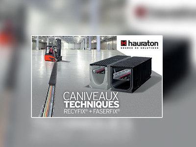 Caniveaux techniques Hauraton : l'optimisation parfaite pour le passage de vos câbles d'alimentation et de communication Batiweb