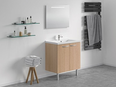 Nouveauté CAREA® : Concept meuble + vasque Toucan, désormais disponible en version portes ! Batiweb