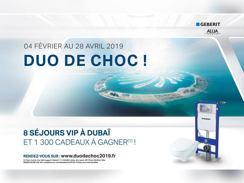 Promotion nationale Geberit, tentez de gagner un séjour VIP à Dubaï - Batiweb