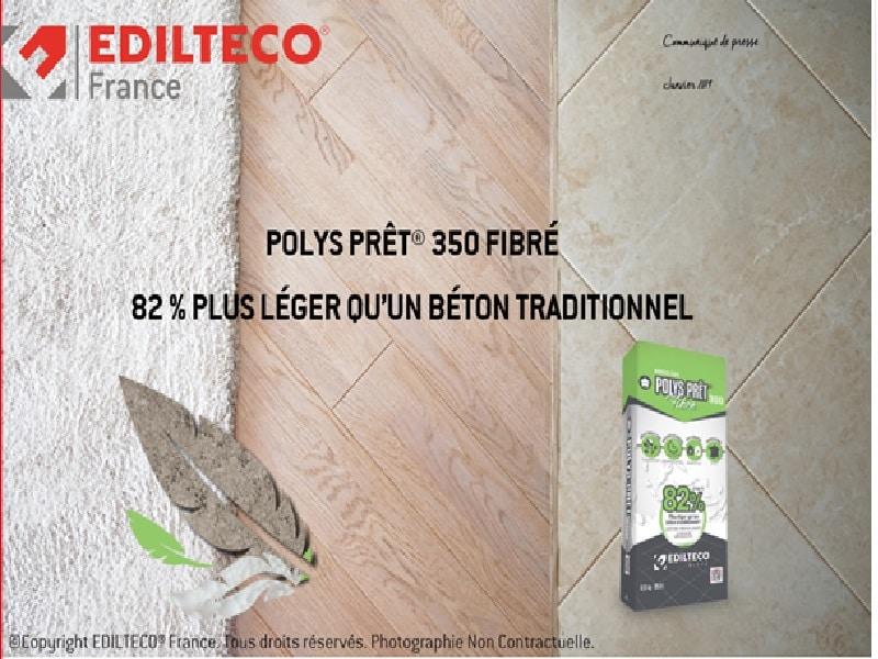 POLYS PRÊT® 350 FIBRÉ 82 % plus léger qu'un béton traditionnel - Batiweb