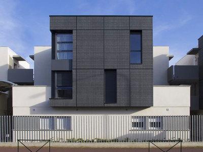 Parements de façade minérale Carea pour la construction de la résidence Jules Amilhau à Toulouse (31) Batiweb