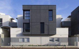 Parements de façade minérale Carea pour la construction de la résidence Jules Amilhau à Toulouse (31)