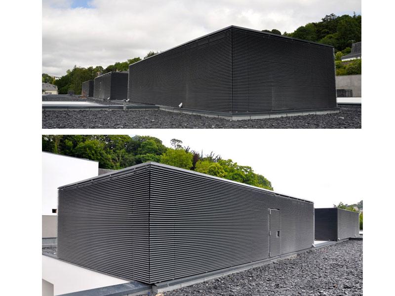 Le pare-vue idéal des équipements techniques en toiture : DucoWall Basic