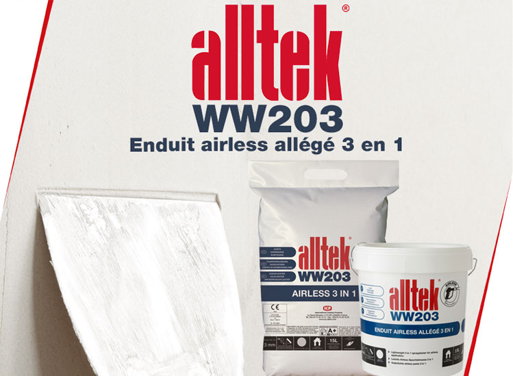 Alltek WW203, votre enduit professionnel de garnissage 3 en 1 joints et finition