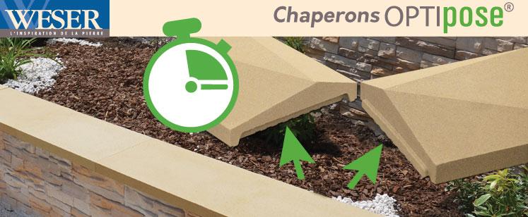 Les chaperons de murs Optipose® Weser