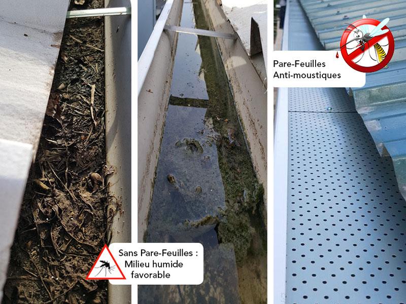 Optimisation des gouttières - un accessoire innovant et anti-moustique - Batiweb