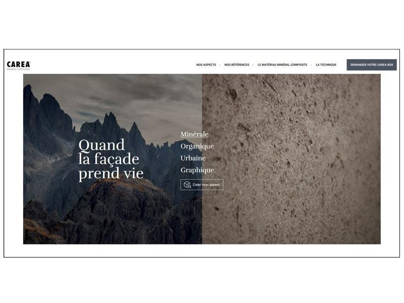 Quand la façade prend vie : CAREA® lance son nouveau site internet à destination des architectes - Batiweb