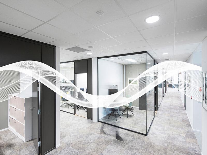 Rockfon Blanka® dB pour des bureaux calmes et flexibles