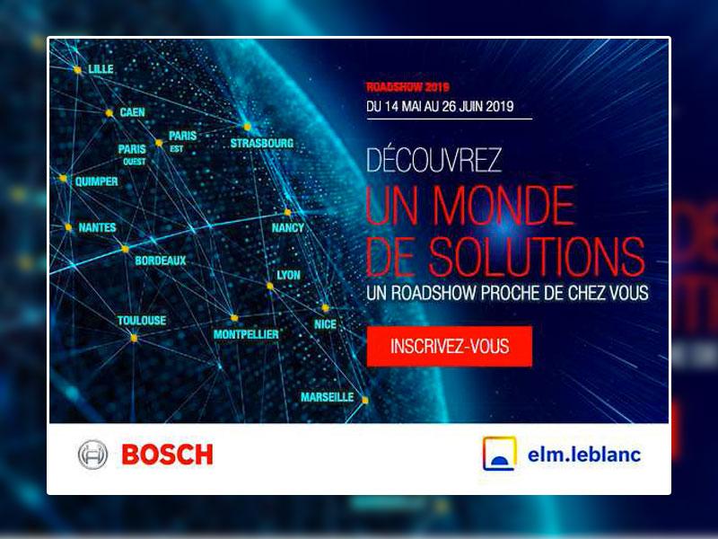 Bosch Thermotechnologie et elm.leblanc lancent leur roadshow national 2019 dédié aux professionnels