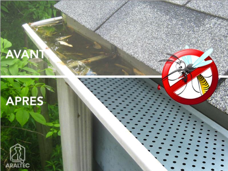 Ne laissez pas vos gouttières devenir un nid à moustiques !