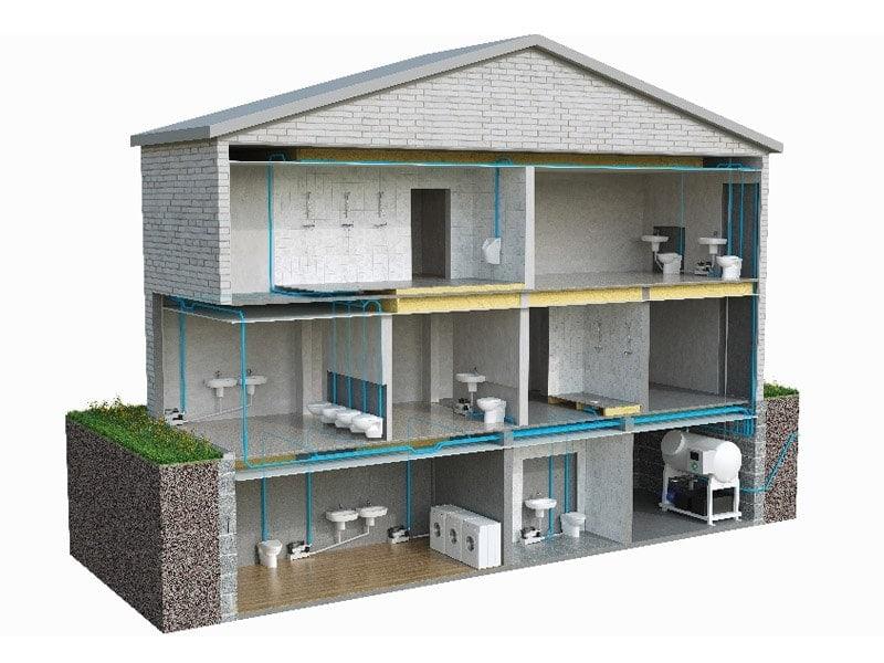 Solutions Evac pour les sanitaires mobiles et les bâtiments modulaires