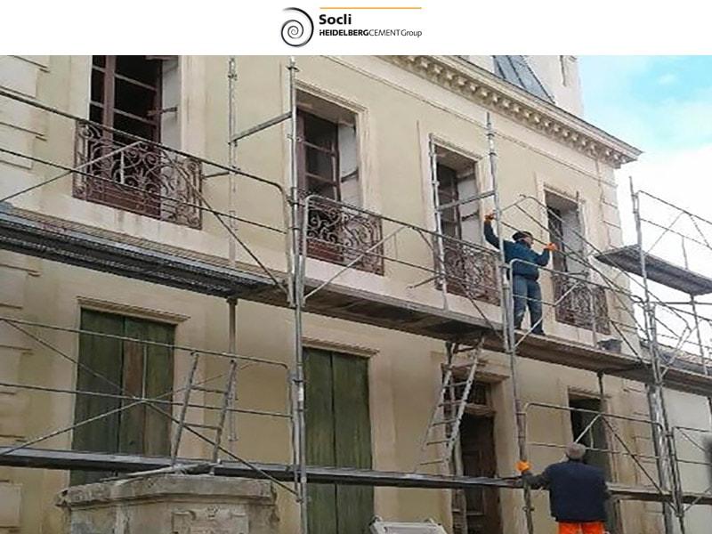 Quand la chaux s'invite sur des façades du XVIIIème siècle