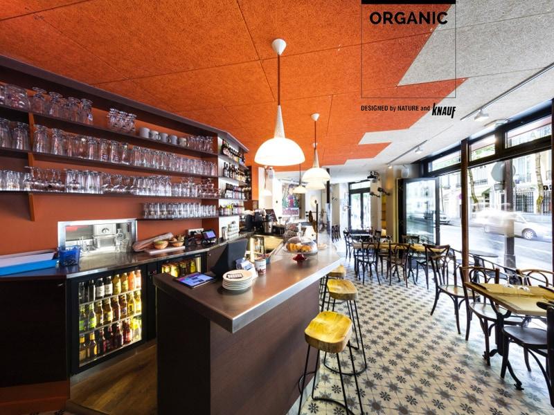 Avec les dalles de laine de bois ORGANIC, laissez-vous inspirer par la nature et composez des murs et plafonds chaleureux !