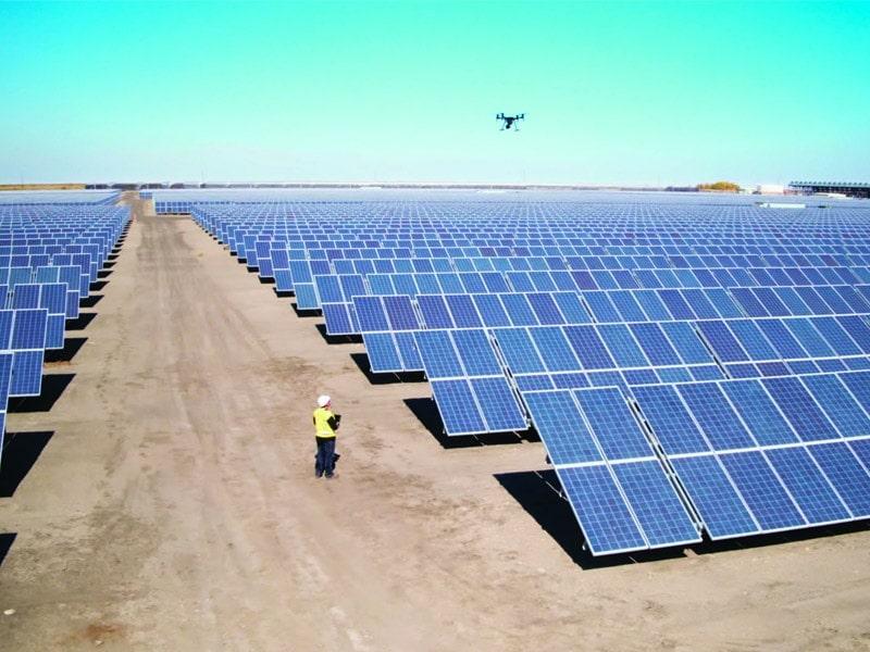 Inspections aériennes de panneaux solaires