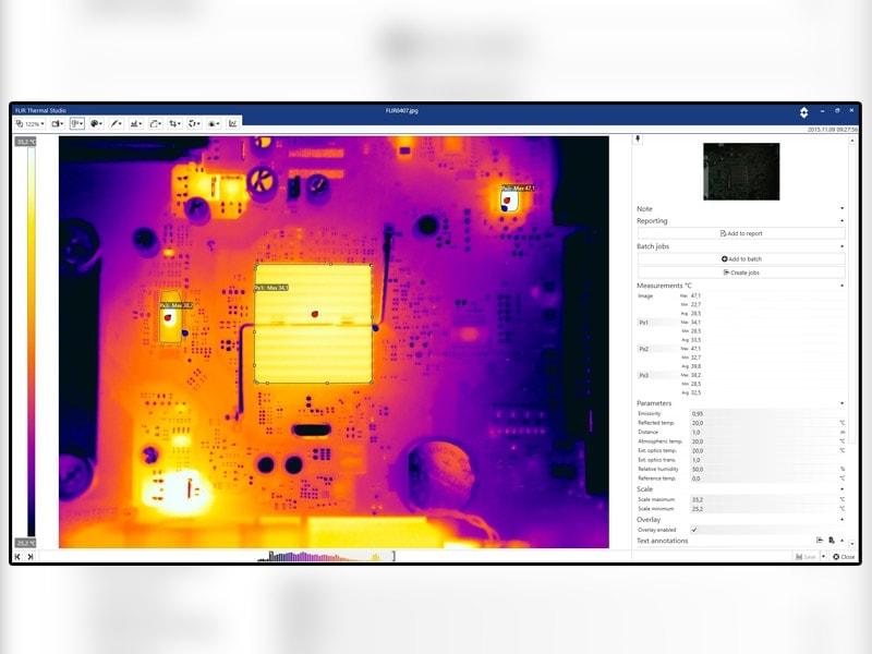 FLIR annonce la sortie du logiciel Thermal Studio permettant aux thermographes d'automatiser le traitement des images thermiques